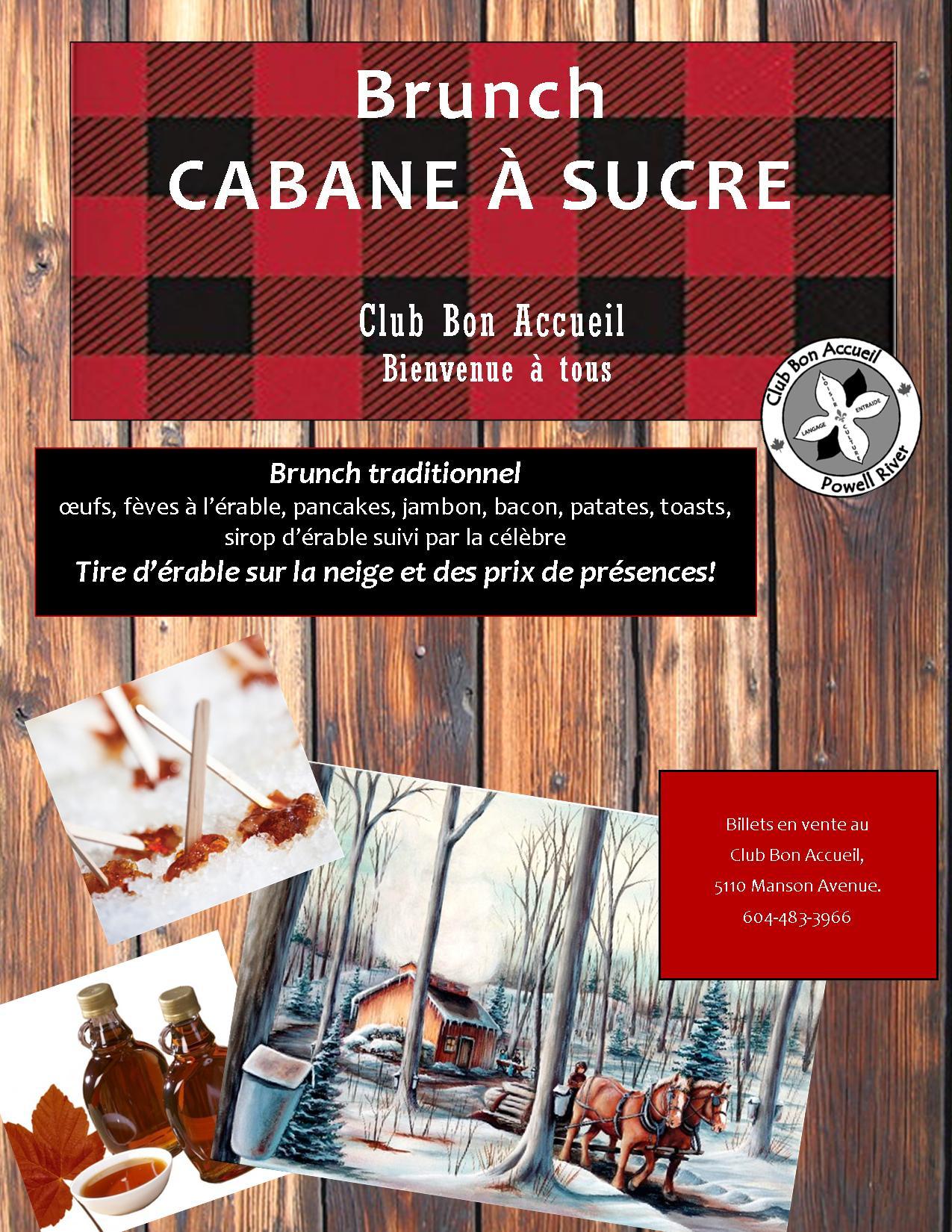 Affiche Brunch Cabane à sucre